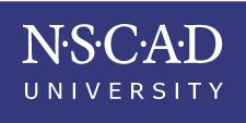 NSCAD logo, purple