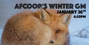 AFCOOP's Winter General Meeting – Jan. 26th