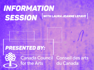 Info Session with the Canada Council on the NEW PORTAL