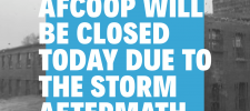 AFCOOP CLOSED – Monday, Sept. 9th