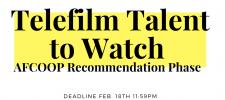 Telefilm Talent To Watch – AFCOOP Nomination