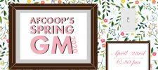 Spring General Meeting – ONLINE!