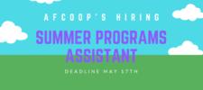 Summer Programs Assistant – Job Call
